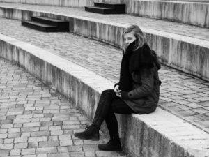 smutná žena, depresia